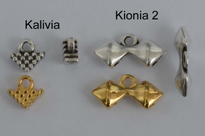 Gold Silver Plated Cymbal Silky End Beads Kalivia Kionia2