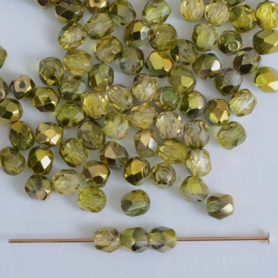Fire Polished Yellow 3 4 6 8 mm Sunny Magic Crystal Zest 00030-98006 Bead