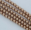 Glass Pearl Round Brown 2 3 4 6 mm Sand 10127 Czech Beads