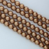 Glass Pearl Round Brown 2 3 4 6 mm Antique Gold 10146 Czech Beads