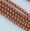 Glass Pearl Round Brown 2 3 4 6 8 mm Copper 10271 Czech Beads