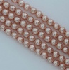 Glass Pearl Round Pink 2 3 4 6 mm Antique Pink 14244 Czech Beads