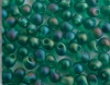 Miyuki Drop Green DP2405fr  3.4mm Transparent Teal AB Matt Bead x 10g