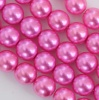 Glass Pearl Round Pink 2 3 4 8 mm Hot Pink 24276 Czech Beads