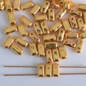 Brick Gold Crystal 24ct Gold Plated 00030-35000 CzechMates Beads x 10
