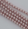 Glass Pearl Round Pink 2 3 mm Silver Rose 70427 Czech Beads