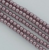 Glass Pearl Round Purple 2 3 4 6 8 mm Orchid 70428 Czech Beads