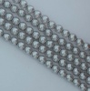 Glass Pearl Round Silver 2 3 4 6 8 mm Platinum 70483 Czech Beads