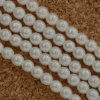 Glass Pearl Round White 2 3 4 6 8 mm White 70600 Czech Beads
