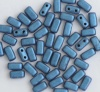 Brick Blue Jet Metallic Suede Blue 23980-79031 Czech Mates Beads x 50