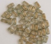 Brick Gold Halo Linen 29270 Czech Mates Beads x 50