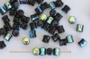 Diablo Black Jet Ab 23980-28701 Czech Glass Bead x 10g