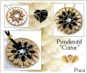Pattern Puca Pendant Coeur uses Amos Ios Foc with bead purchase