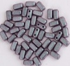 Brick Purple Jet Polychrome Orchid Aqua 23980-94102 Czech Mates Beads x 50