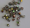 Swarovski Bicone 5328 Green Vitrail Medium 3mm 4mm x 20 Bead