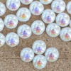 Candy Round White 6 8 mm Alabaster AB 02010-28701 Czech Glass Bead