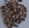 Brick Gold Crystal Apollo Capri Gold 00030-27101 Czech Mates Beads x 50