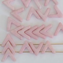 Ava Pink Chalk Lila 03000-14494 Czech Glass Bead x 10
