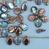 Pip Brown Crystal Copper Rainbow 00030-98533 Czech Glass Bead x 25