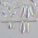 Dagger 1 Hole Clear 6x2.5 10x3 16x5 mm Crystal AB Half 00030-28701 Beads