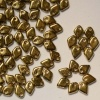Dragon Scales Gold Crystal Amber Full 00030-26440 Czech Glass Bead x 5g
