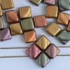 Silky Gold Crystal Matt Bronze Iris C 00030-01640 Czech Glass Bead x 10g