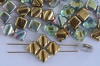 Silky Gold Crystal Golden Rainbow 00030-98536 Czech Glass Beads x 10g