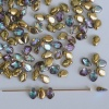 Gekko Gold Crystal Gold Rainbow  00030-98536 Czech Glass Bead x 5g