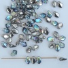 Gekko Grey Crystal Graphite Rainbow  00030-98537 Czech Glass Bead x 5g