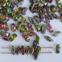 StormDuo Green Crystal Magic Orchid 00030-95000 Czech Glass Beads x 50
