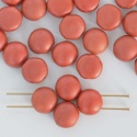 Candy Round Red 6 8 mm Crystal Matt Met Lava 00030-01890 Czech Glass Bead