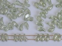 Zoliduo Left Right Green Crystal Lt Green Shimmer 00030-14457 Czech Glass Bead