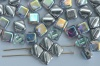 Silky Silver Crystal Silver Rainbow 00030-98530 Czech Glass Beads x 10g
