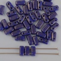 Brick Blue Indigo Moon Dust 33060 CzechMates Beads x 50