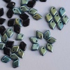 Dragon Scales Black Jet AB 23980-28701 Czech Glass Bead x 5g