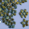 Dragon Scales Blue Jet AB Full 23980-28703 Czech Glass Bead x 5g