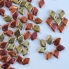 Dragon Scales Gold Jet California Gold Rush 23980-98542 Czech Glass Bead x 5g