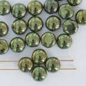 Candy Round Green 8mm Jet Metallic Green 23980-14495 Czech Glass Bead x 25