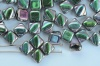 Silky Green Jet Vitrail Full 23980-29443 Czech Glass Beads x 10g