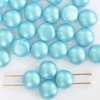 Candy Round Blue 6 8 mm Pastel Aquamarine  02010-25019  Czech Glass Bead