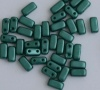 Brick Green Pastel Teal 02010-25027 CzechMates Beads x 50