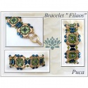 Pattern Puca Bracelet Filaos uses Tinos Arcos Foc with bead purchase