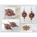Pattern Puca Earring Laurence uses Arcos Tinos Minos Foc with bead purchase