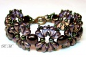 Pattern Glass Beads Bracelet Violets uses Zoliduo Foc with Bead Purchase