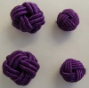 Fabric Chinese Knot Beads Buttons 2 Sizes Purple