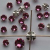 Rose Montees Pink 3 4 6 mm Rose 082209 Swarovski Beads Silver Pltd Setting
