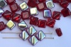 Silky Red Transparent Dark Ruby AB 90100-28701 Czech Glass Beads x 10g
