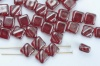 Silky Red Transparent Dark Ruby Shimmer 90100-14400 Czech Glass Beads x 10g