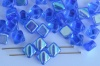 Silky Blue Transparent Sapphire AB 30050-28701 Czech Glass Beads x 10g