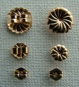 Rolled Gold Filled Earring Butterfly Backs Nuts Scrolls Yellow x 1pr